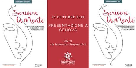 Presentazione di Scrivere la mente a Genova biglietti