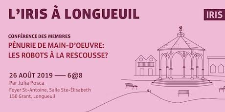 L'IRIS à Longueuil — Conférence annuelle des membres et partenaires billets