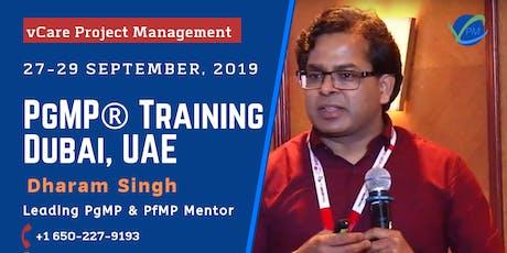 PgMP | Program Management Training | Dubai | UAE | September | 2019 tickets