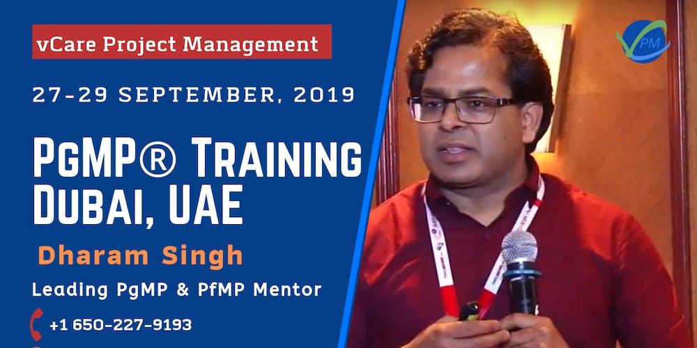 PgMP   Program Management Training   Dubai   UAE   September   2019