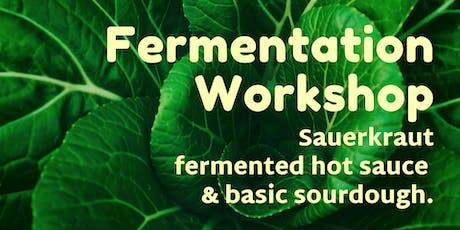 Fermentation workshop  - sauerkraut, hot sauce and sourdough. tickets