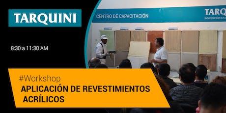 Workshop TARQUINI: Aplicación de Revestimientos texturados entradas