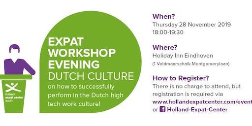 Expat Workshop Evening: Dutch High Tech Work Culture