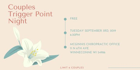 Couples Trigger Point Therapy Night tickets