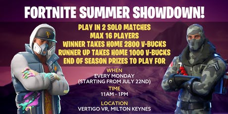 Fornite Summer Showdown Week 5 tickets