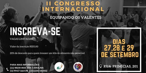 II Congresso Internacional Equipando os Valentes