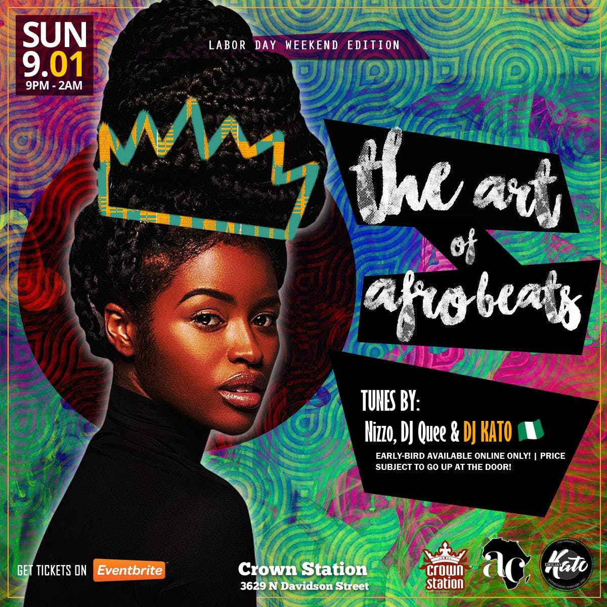 The Art of Afrobeats Charlotte, Vol.2: Labor Day Weekend 2019 @Crown Station