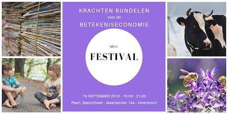 Mini-festival Krachten bundelen voor de betekeniseconomie tickets