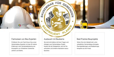 Bauseminar für Kirchengemeinden - in Augsburg