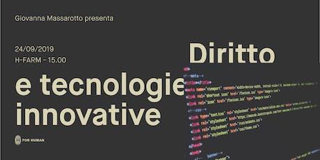 Diritto e tecnologie innovative biglietti