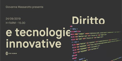 Diritto e tecnologie innovative