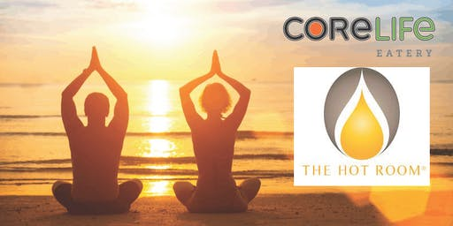 Power Vinyasa Patio Yoga Class with 50% off CoreLife Eatery Lunch