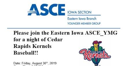 ASCE-YMG Kernels Baseball night! tickets