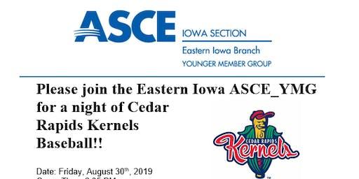 ASCE-YMG Kernels Baseball night!
