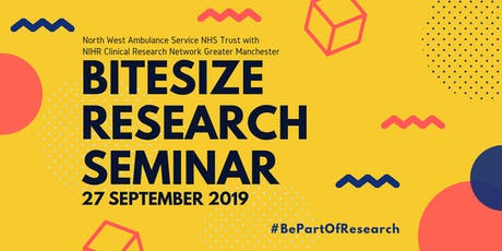 North West Ambulance Service NHS Trust Bitesize Research Seminar tickets