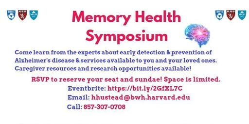 Memory Health Symposium / Ice Cream Social