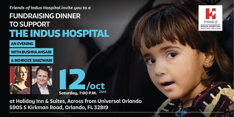 Dinner & Comedy Night with Bushra Ansari & Behroz to support Indus Hospital tickets