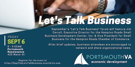 September Let's Talk Business | Portsmouth Economic Development Series tickets