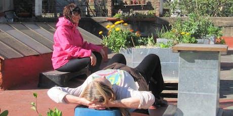 Meditación contemplativa en una huerta porteña. entradas