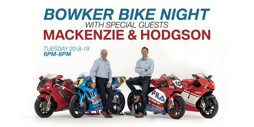 Bowker Bike Night with Mackenzie & Hodgson