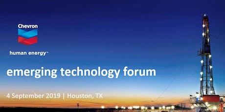 2019 Chevron Emerging Technology Forum tickets
