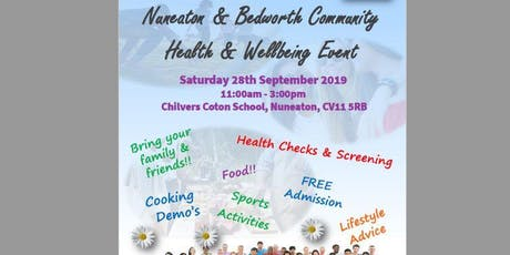 Nuneaton & Bedworth Community Health & Wellbeing Event 2019 tickets