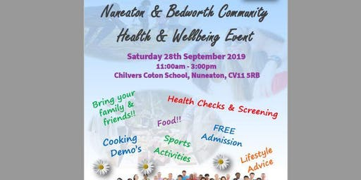 Nuneaton & Bedworth Community Health & Wellbeing Event 2019