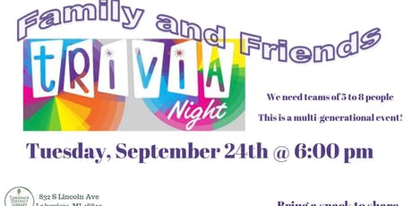 Trivia Night at the Library tickets