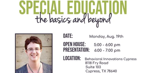 Special Education Basics and Beyond!