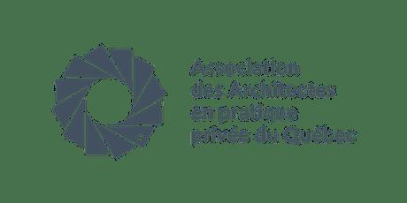 Matinée-formation à Laval   Nouveaux contrats AAPPQ : vos documents de référence pour encadrer votre responsabilité, expliquer vos services et évaluer vos honoraires billets