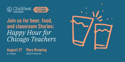 Chicago educators — join us for Chalkbeat happy hour