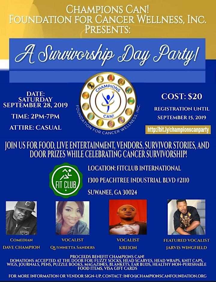 A Survivorship Day Party! image
