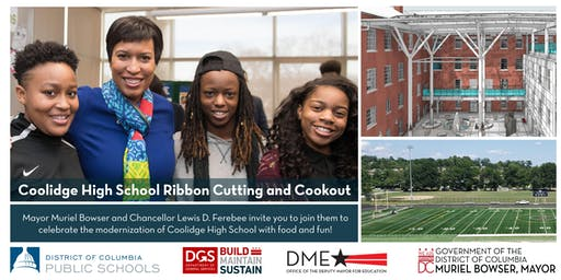 Join Mayor Muriel Bowser at the Coolidge Senior High School Ribbon Cutting & Community Cookout