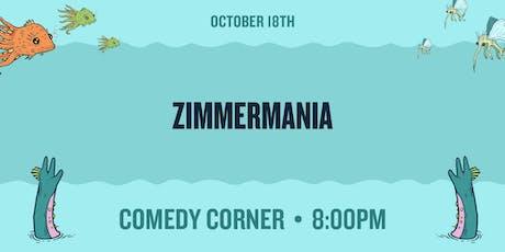 Zimmermania at The Comedy Corner Underground tickets