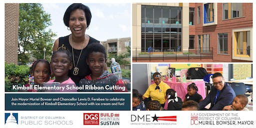 Join Mayor Muriel Bowser at the Kimball Elementary School Ribbon Cutting
