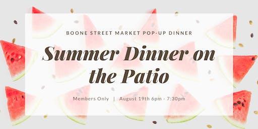 Summer Dinner on the Patio