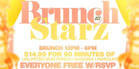 $14.99 Unlimited Drinks Brunch At Starz Lounge tickets
