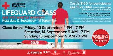 September Ellsworth AFB Lifeguard Classes tickets