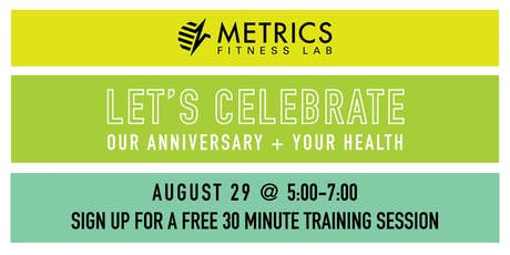 Metrics Fitness Lab 4th Anniversary Party + Mini Training Session tickets