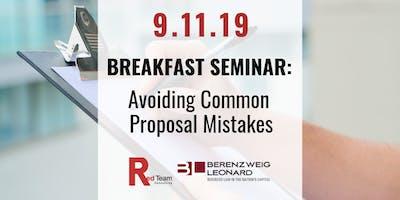 Breakfast Seminar: Avoiding Common Proposal Mistakes