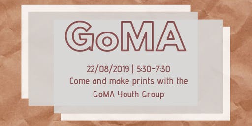 Create Prints with the GoMA Youth Group