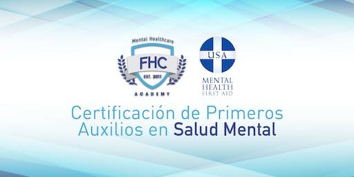 Obtén tu Certificación de Primeros Auxilios en Salud Mental