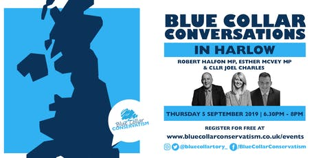 Blue Collar Conversations in Harlow tickets