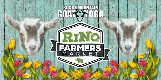 Goat Yoga - September 29th (RiNo Farmers Market)
