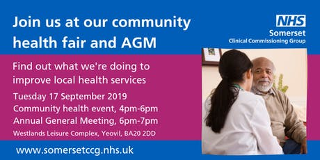 Somerset CCG Community Health Fair and Annual General Meeting tickets