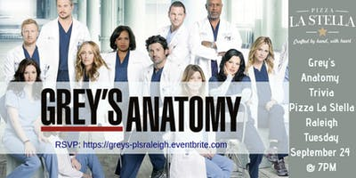 Grey's Anatomy Trivia at Pizza La Stella Raleigh