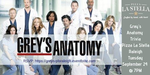 Grey's Anatomy Trivia at Pizza La Stella Raleigh