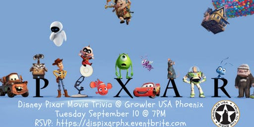 Disney Pixar Movie Trivia at Growler USA Phoenix