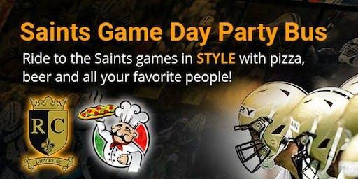 Saints vs Buccaneers Game Day Party Bus