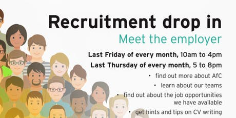 Recruitment drop-in tickets